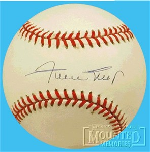 Willie Mays autographed National League baseball
