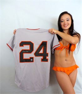 Willie Mays autographed San Francisco Giants authentic game model jersey
