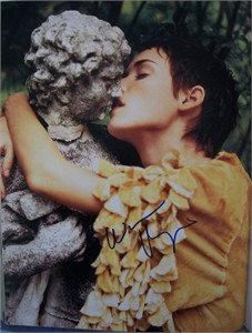 Winona Ryder autographed 11x14 Rolling Stone book photo