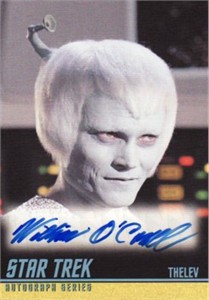 William O'Connell Star Trek certified autograph card