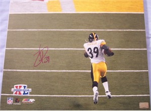 Willie Parker autographed Pittsburgh Steelers Super Bowl 40 Touchdown Run 16x20 poster size photo