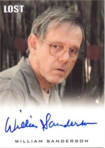William Sanderson LOST certified autograph card