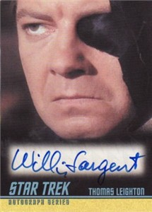 William Sargent Star Trek certified autograph card