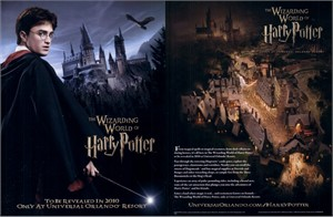 Wizarding World of Harry Potter 8 1/2 x 11 promo flyer