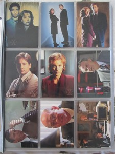 X-Files Topps Season 1 complete 72 card set