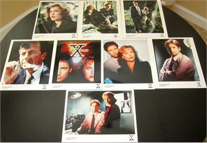 X-Files set of 8 original 1995 8x10 color publicity photos (Gillian Anderson David Duchovny)