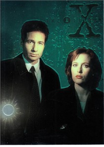 X-Files 1995 Topps promo trading card TXFM1