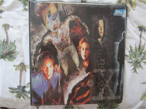 X-Files Topps trading cards album or binder