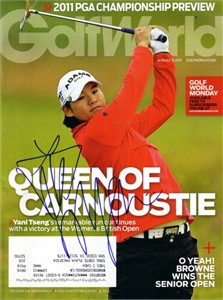 Yani Tseng autographed 2011 Women's British Open Golf World magazine