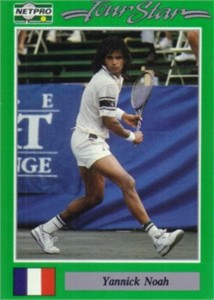 Yannick Noah 1991 Netpro card