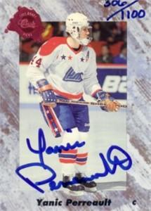 Yanic Perreault certified autograph 1991 Classic card