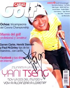 Yani Tseng autographed Caras Golf magazine cover 8x10 photo