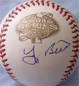 Yogi Berra autographed 2003 World Series baseball
