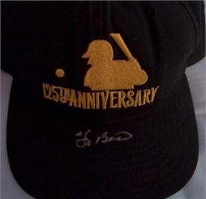 Yogi Berra autographed MLB 125th Anniversary cap or hat