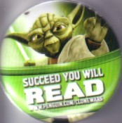 Star Wars Clone Wars 2011 Comic-Con promo button or pin (Yoda)