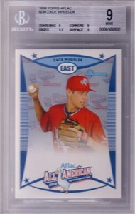 Zack Wheeler 2008 AFLAC Bowman Rookie Card graded BGS 9 MINT