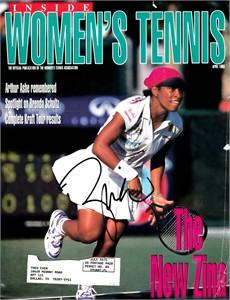 Zina Garrison autographed 1993 Inside Women's Tennis magazine cover