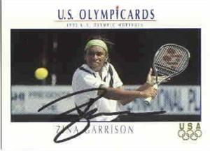 Zina Garrison autographed 1992 U.S. Olympic tennis card