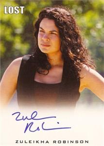 Zuleikha Robinson LOST certified autograph card