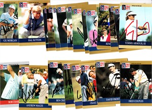 31 autographed 1990 Pro Set PGA Tour golf cards Tom Watson Fred Couples Ben Crenshaw Mark O'Meara Nick Price