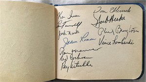 1961 Green Bay Packers NFL Champions team autographed album (Vince Lombardi Bart Starr) JSA
