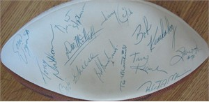 1981 Miami Dolphins team autographed football (Larry Gordon Bob Griese Don Shula Don Strock David Woodley)