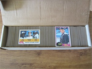 1981 Topps baseball complete set of 726 cards (Tim Raines Rookie Card)