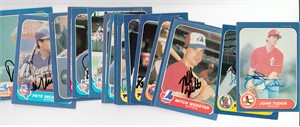 Lot of 17 different autographed 1986 Fleer baseball cards (Steve Garvey Pete Incaviglia John Tudor Mitch Webster)
