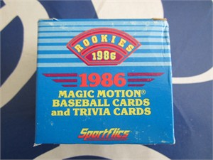 1986 Sportflics Rookies complete set of 50 baseball cards (Barry Bonds Will Clark Bo Jackson Barry Larkin Rookie Cards)