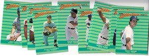 1988 Fleer All-Star Team 12 insert card set (Roger Clemens Andre Dawson Wade Boggs Paul Molitor)