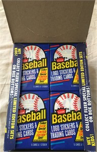 1988 Fleer baseball cards wax box of 36 sealed packs (possible Tom Glavine Rookie Card)