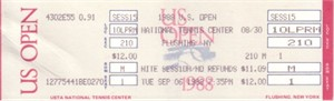 1988 U.S. Open tennis full unused ticket (Steffi Graf Grand Slam)