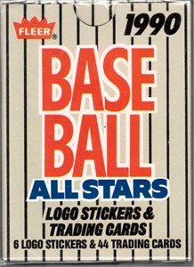 1990 Fleer All-Stars complete 44 card set (Ken Griffey Jr. Kirby Puckett Cal Ripken Ryne Sandberg)