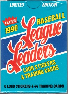 1990 Fleer League Leaders complete 44 card set (Ken Griffey Jr. Tony Gwynn Kirby Puckett Nolan Ryan Robin Yount)