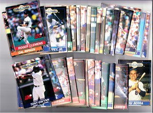 1991 Line Drive Collect A Books baseball partial set (Ken Griffey Jr. Cal Ripken Nolan Ryan)