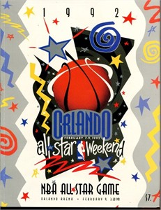 1992 NBA All-Star Game (Orlando) program