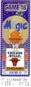 1993 Chicago Bulls at Orlando Magic ticket stub PRISTINE (NBA Champions)