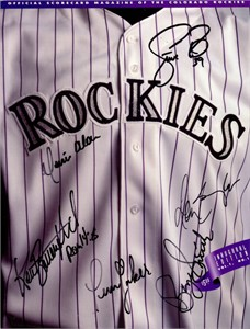 1993 Colorado Rockies Inaugural Game autographed program (Don Baylor)