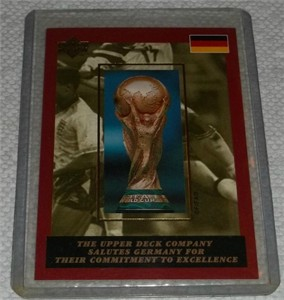 1994 Upper Deck FIFA World Cup Soccer Germany redemption card