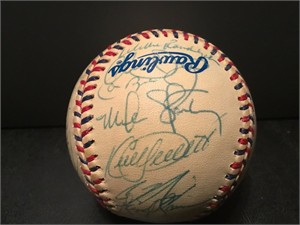 1995 American League All-Star Team autographed baseball (Kirby Puckett Cal Ripken Frank Thomas)