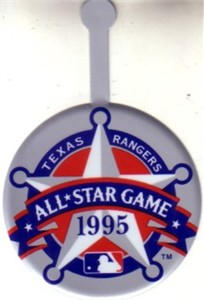 1995 MLB All-Star Game logo metal pin
