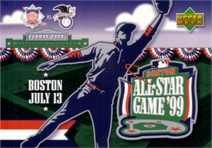 1999 MLB All-Star Game logo Upper Deck jumbo card