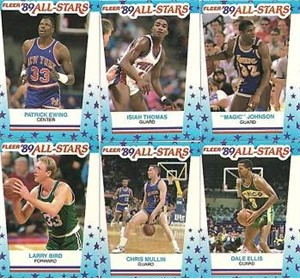 1989-90 Fleer basketball 11 sticker card set (Michael Jordan)