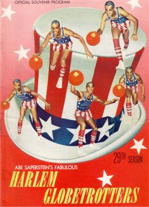 1955-56 Harlem Globetrotters basketball program or yearbook PRISTINE