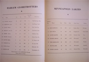 1951 Minneapolis Lakers (George Mikan) at Philadelphia Warriors program insert