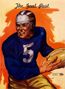 1946 UCLA Bruins vs Nebraska Cornhuskers college football game program PRISTINE (Tom Fears)