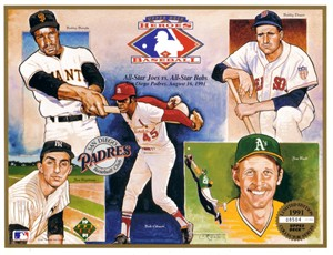 1991 Upper Deck Heroes of Baseball card sheet (Bobby Doerr Bob Gibson)