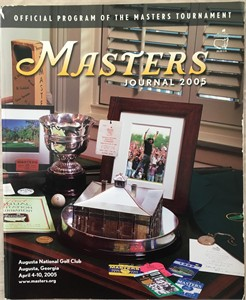 2005 Masters Journal golf tournament program (Tiger Woods wins 4th green jacket)