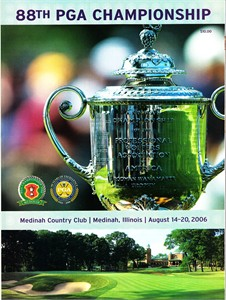 2006 PGA Championship Medinah golf tournament program (Tiger Woods wins)