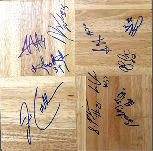 2008-09 UConn Huskies Final 4 team autographed floor Jim Calhoun Jeff Adrien A.J. Price Hasheem Thabeet Kemba Walker